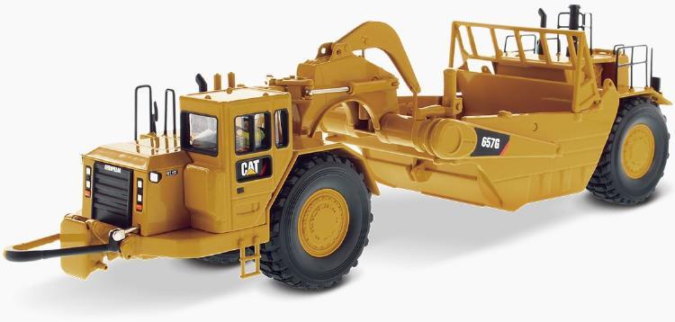 Cat 657G Wheel Tractor Scraper スクレーパー  /ダイキャストマスターズ 建設機械模型 工事車両 1/50 ミニチュア
