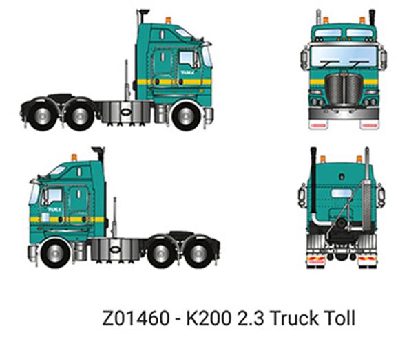 【予約】6-8月以降発売予定Toll - Kenworth K200 Prime Mover with 2.3m Cab トラック トラクタヘッド/建設機械模型 工事車両 DRAKE 1/50 ミニチュア