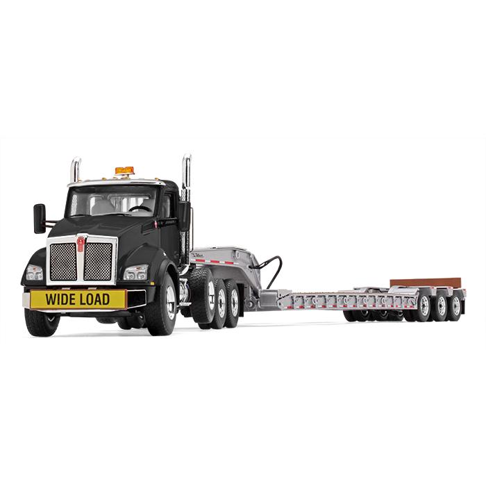 Kenworth T880 with Tri-Axle Lowboy Trailerトラック /建設機械模型 工事車両 ファーストギア 1/50 ミニチュア