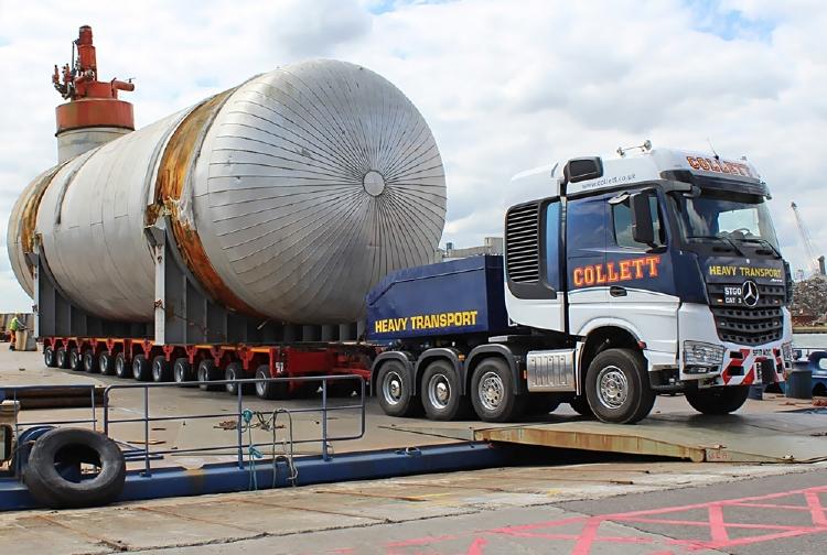 【予約】Collettメルセデスベンツ アクトロス 8x4 BigSpace with 2x 6軸 InterCombi 建設機械模型 工事車両IMC 1/50 ミニチュア
