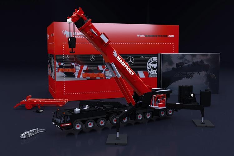 【予約】2019年6-8月以降発売予定Mammoetマムート Demag AC 700-9 モバイルクレーン /建設機械模型 工事車両 IMC 1/50 ミニチュア