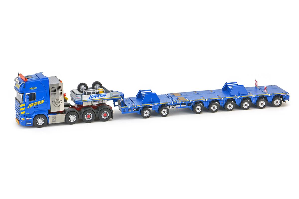 【予約】2017年発売予定Havator Scania R6 Topline 8x4 with Nooteboomノーテブーム MCO-PX 2+6軸 with LTM11200-9.1 Saddles トラックトレーラー /IMC 建設機械模型 工事車両 1/50 ミニチュア