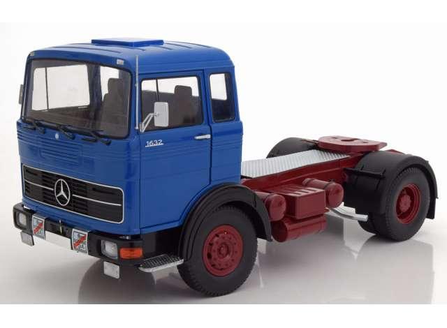 1969 Mercedes LPS 1632 ブルー/レッド トラック トラクタ/建設機械模型 工事車両 Road Kings 1/18 ミニチュア