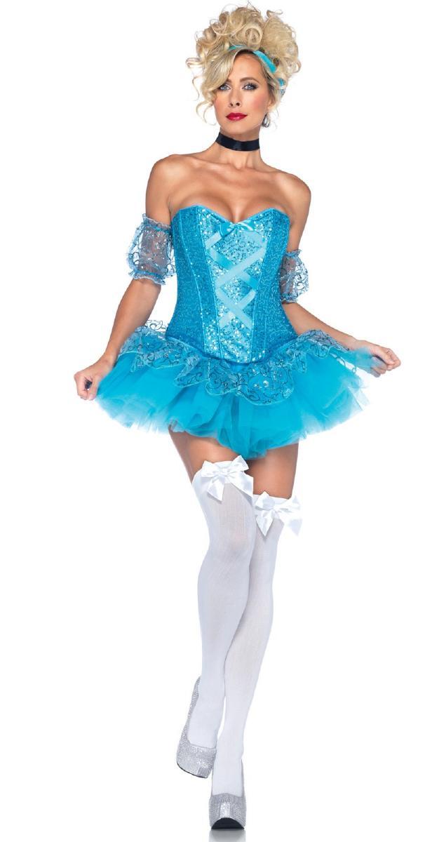 セクシー☆シンデレラ コスチューム コスプレ衣装 (二次会、結婚式、仮装、パーティー、宴会、舞台、演劇、ハロウィン) 女性 大人用