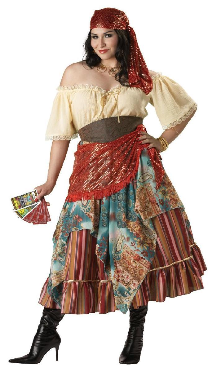 大きいサイズ ボヘミアンな占い師コスチューム コスプレ衣装 (二次会、結婚式、仮装、パーティー、宴会、舞台、演劇、ハロウィン) 女性 大人用
