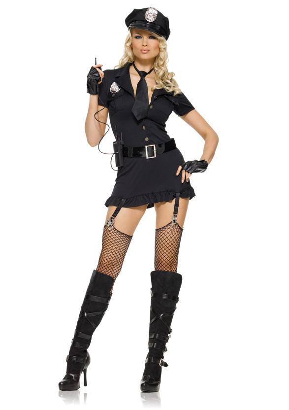 セクシー悪徳警官 コスチューム コスプレ衣装 (二次会、結婚式、仮装、パーティー、宴会、舞台、演劇、ハロウィン) 女性 大人用