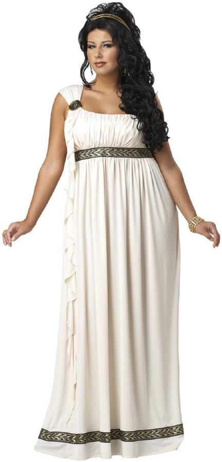 古代ローマ オリンポス ミューズ(女神)コスチューム プラスサイズ 2ピースセット 中世 コスチューム コスプレ衣装 (二次会、結婚式、仮装、パーティー、宴会、ハロウィン) 女性 大人 大きいサイズ用