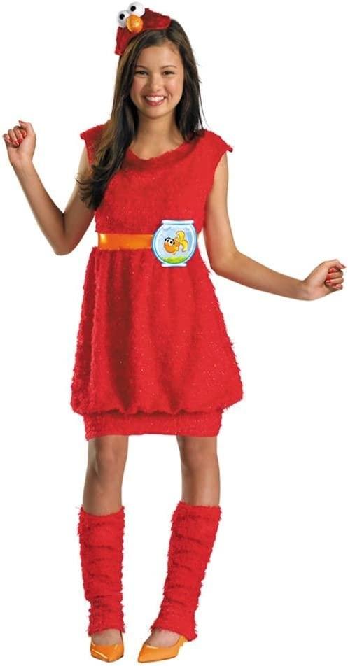 セサミストリート エルモ 4ピースセット /コスチューム コスプレ衣装 (仮装、ハロウィン) 女の子ガールズ 子供キッズ
