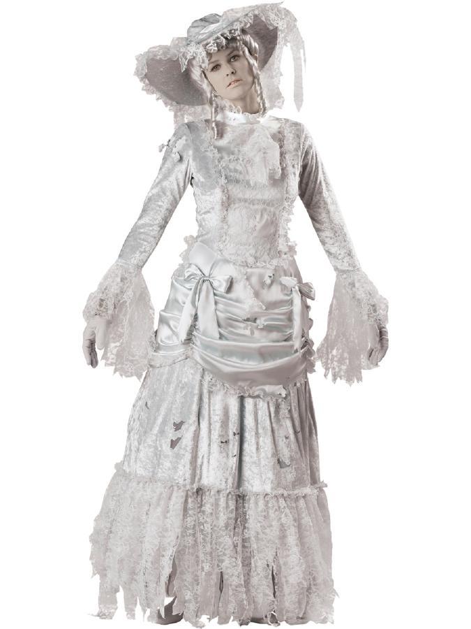 ゴーストレディーコスチューム コスプレ衣装 (二次会、結婚式、仮装、パーティー、宴会、舞台、演劇、ハロウィン、大きいサイズ)  女性 大人用