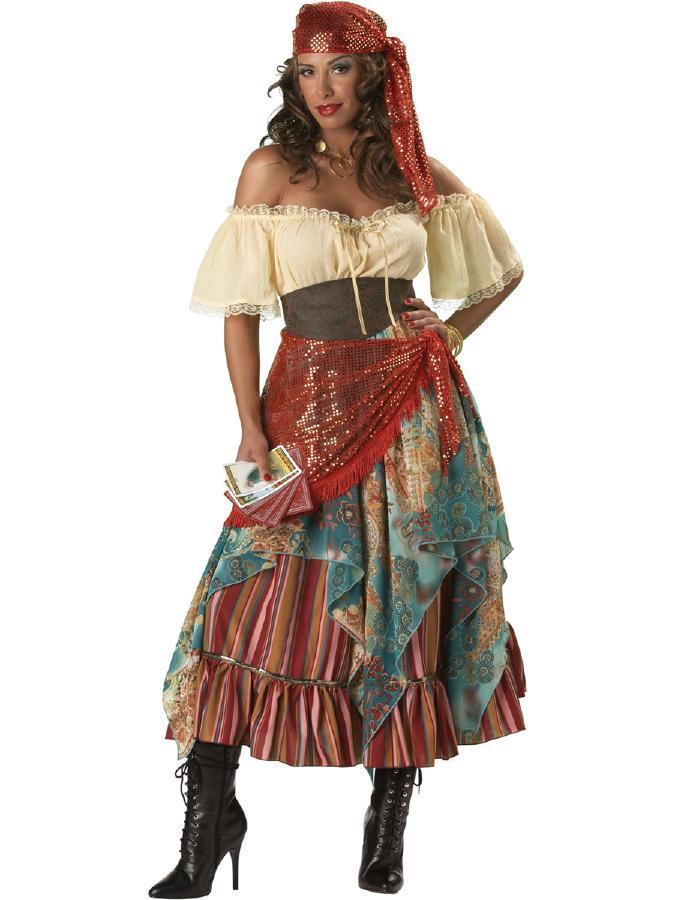 魅惑の占い師!フォーチュン・テラーコスチューム 6ピースセット コスプレ衣装 (二次会、結婚式、仮装、パーティー、宴会、ハロウィン) 女性 大人用