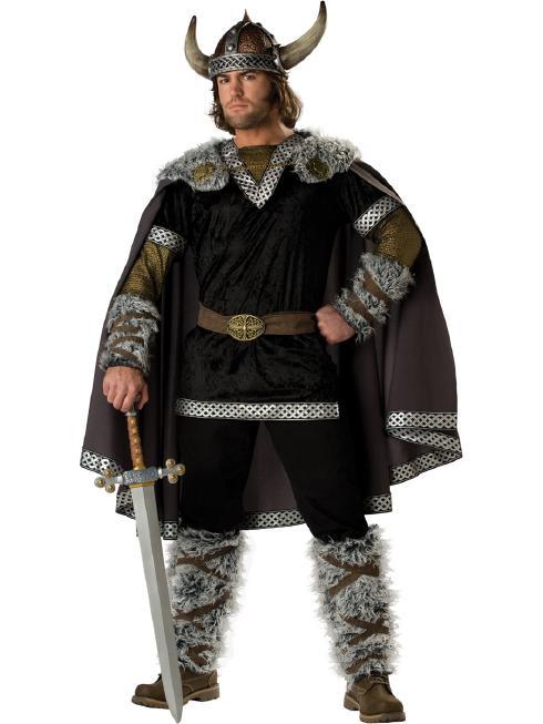 北欧のバイキング! メンズ用コスチューム 5ピースセット コスプレ衣装 (二次会、結婚式、仮装、パーティー、宴会、ハロウィン) 男性 大人用