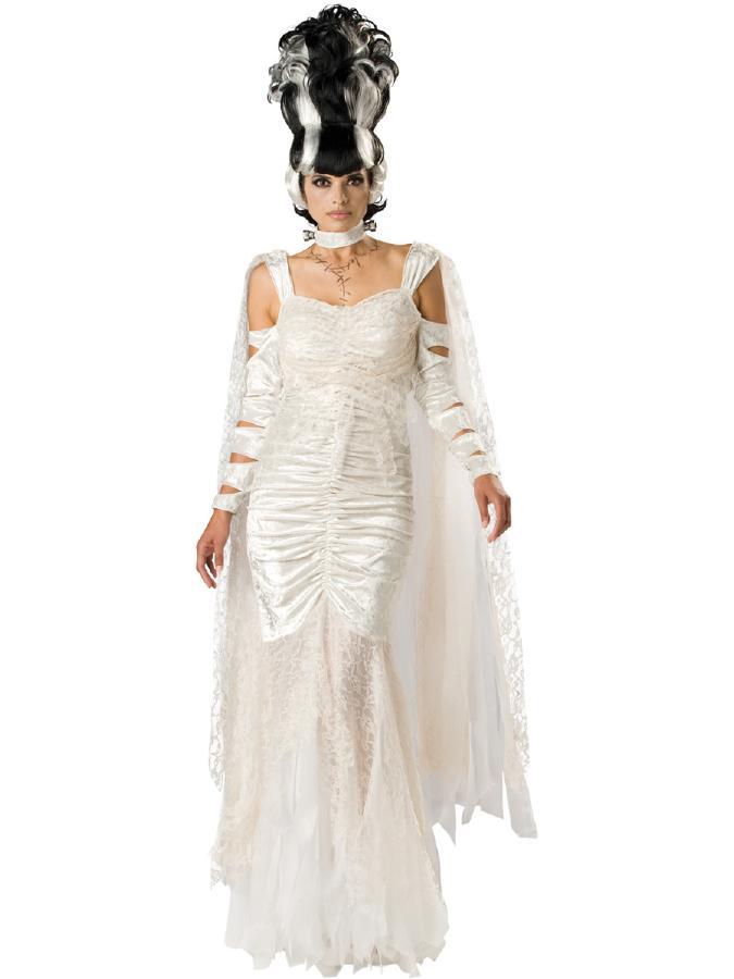 不気味さ少な目♪美しいモンスターブライドコスチューム 3ピースセット コスプレ衣装 (二次会、結婚式、仮装、パーティー、宴会、ハロウィン) 女性 大人用