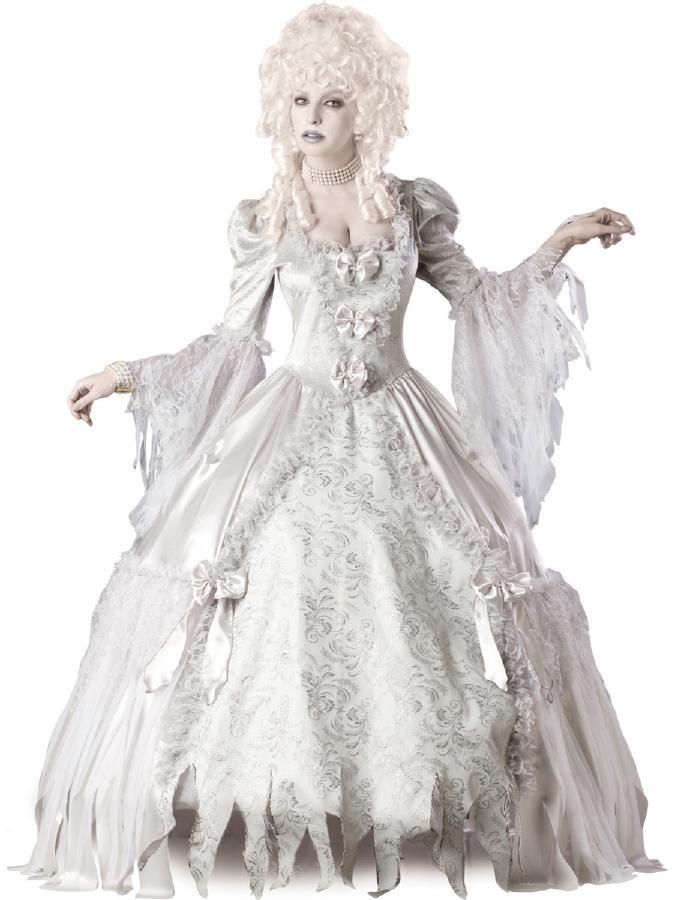 美しき亡霊の伯爵夫人コスチューム コスプレ衣装 (二次会、結婚式、仮装、パーティー、宴会、ハロウィン) 女性 大人用