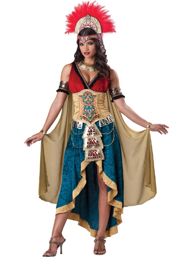ゴージャスなマヤのクイーン コスチューム コスプレ衣装 (二次会、結婚式、仮装、パーティー、宴会、舞台、演劇、ハロウィン) 女性 大人用