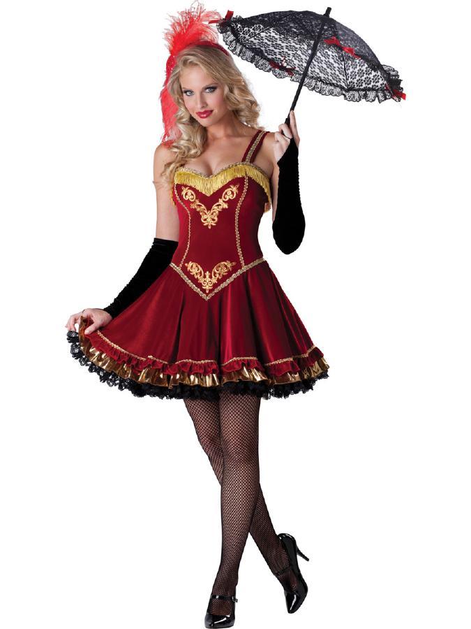 かわいいサーカス・ガール★ 5ピースセット コスプレ衣装 (二次会、結婚式、仮装、パーティー、宴会、ハロウィン) 女性 大人用