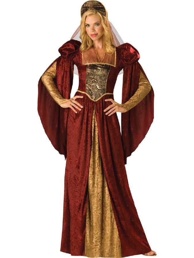 中世のお姫様♪ルネッサンス・メイデンコスチューム 2ピースセット コスプレ衣装 (二次会、結婚式、仮装、パーティー、宴会、ハロウィン) 女性 大人用