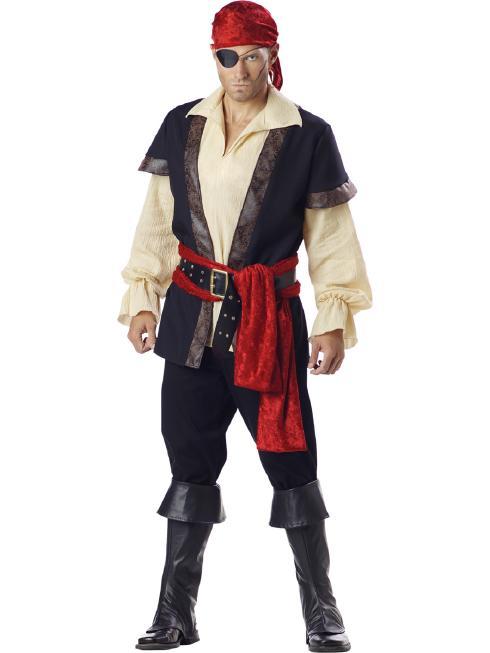 ワイルドな海賊のコスチューム コスプレ衣装 (二次会、結婚式、仮装、パーティー、宴会、舞台、演劇、ハロウィン) 大人用