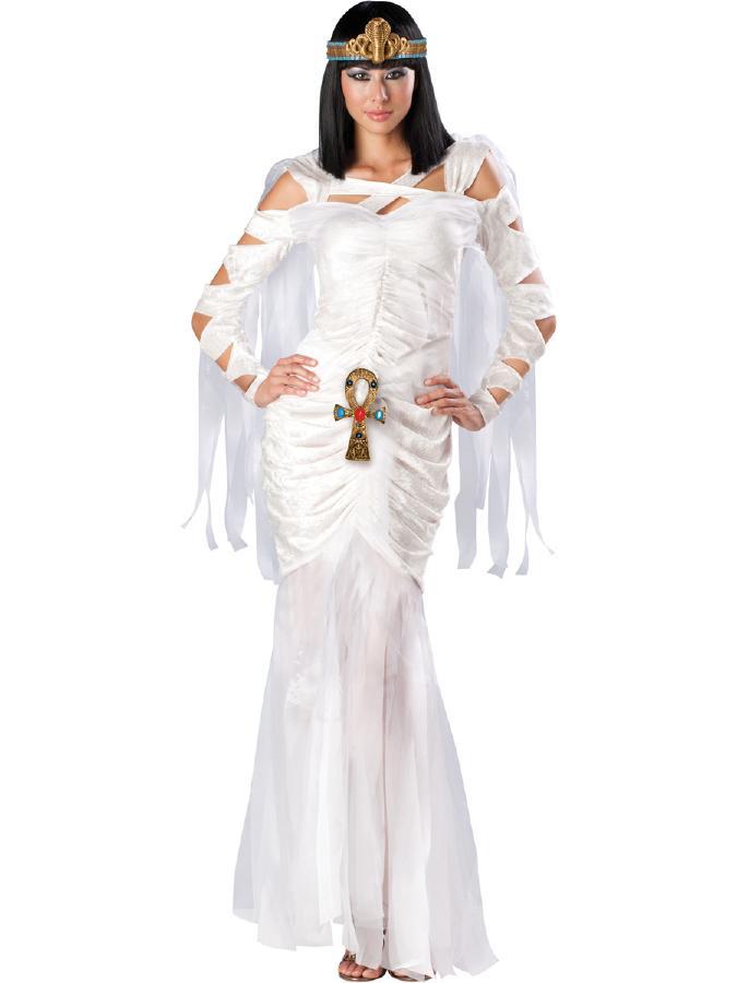 エジプトのミイラ 女性用コスチューム 3ピースセット コスプレ衣装 (二次会、結婚式、仮装、パーティー、宴会、ハロウィン) 女性 大人用