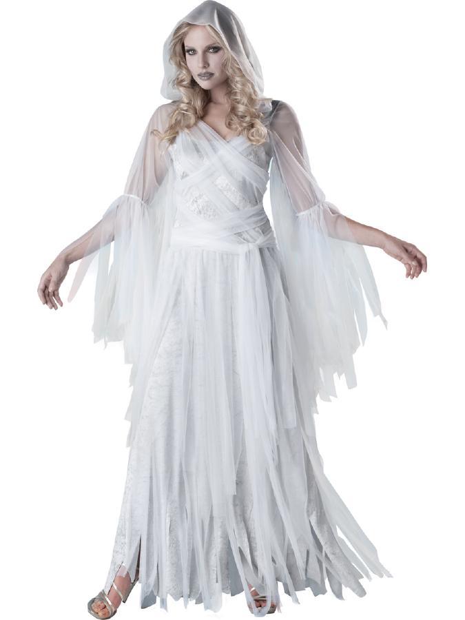 ゴシックエレガントな幽霊 コスチューム コスプレ衣装 (二次会、結婚式、仮装、パーティー、宴会、舞台、演劇、ハロウィン) 大人用