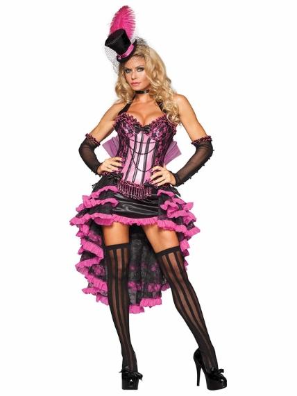 キュート&セクシーなバーレスクダンサーのコスチューム コスプレ衣装 (二次会、結婚式、仮装、パーティー、宴会、舞台、演劇、ハロウィン) 女性 大人用【動画あり】