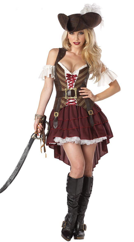 魅惑のフェロモン女海賊/コスチューム コスプレ衣装 (二次会、結婚式、仮装、パーティー、宴会、ハロウィン)大人女性用