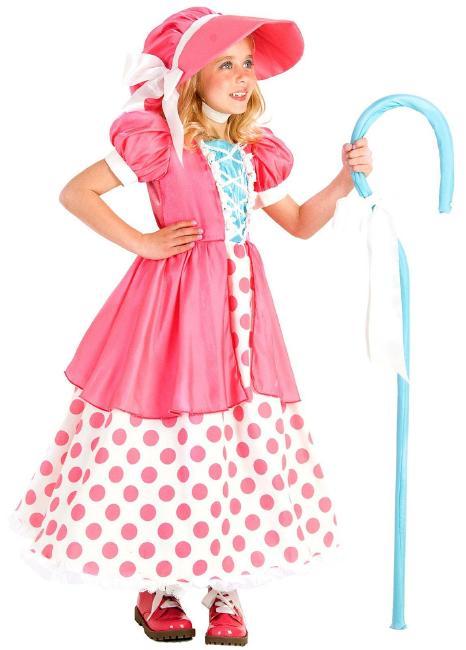 ポルカドット ボー・ピープ チャイルドコスチューム 3点セット キッズ コスプレ衣装 (結婚式、仮装、パーティー、発表会、ハロウィン)子供 女の子