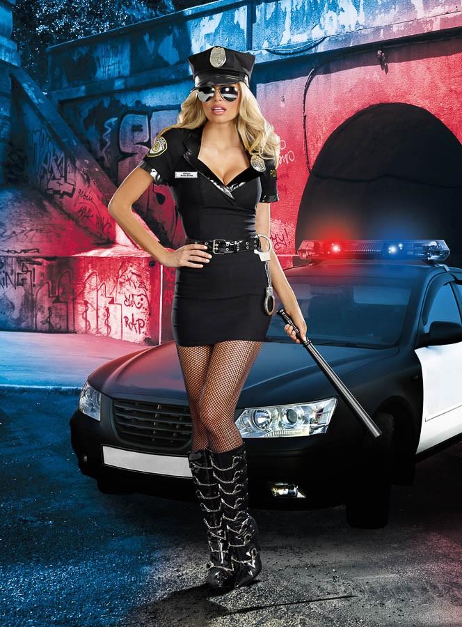 汚職警官アニータのコスチューム6点セット仮装コスチューム コスプレ /ドリームガール・仮装・ハロウィン・女性大人用