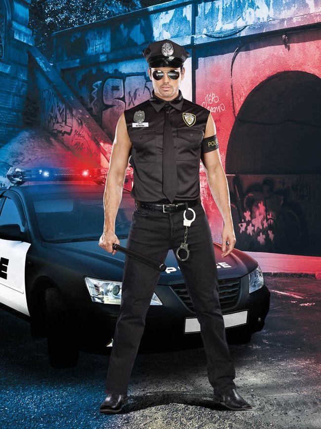 汚職警官ED BANGERのコスチューム6点セット イベント仮装コスチューム コスプレ ・ハロウィン・大人男性用wPkX08nO