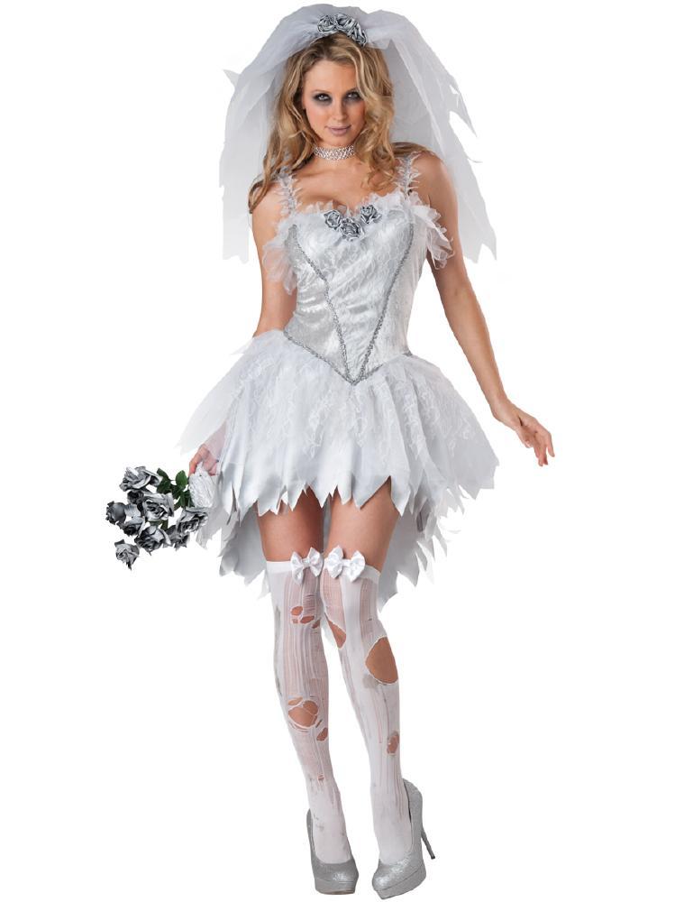 無血の花嫁のコスチューム2点セット (イベント 二次会、結婚式、仮装、パーティー、宴会、舞台、演劇、ハロウィン) 女性 大人用