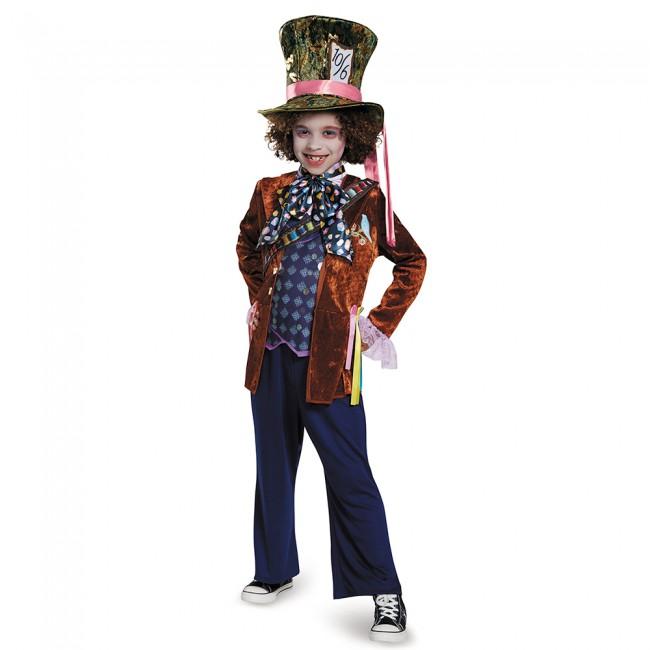 『アリス・イン・ワンダーランド』マッドハッターのデラックスコスチューム5点セット(子供用) ハロウィンコスチューム コスプレ (仮装、パーティー、舞台、演劇、ハロウィン)キッズ 男の子 子供用