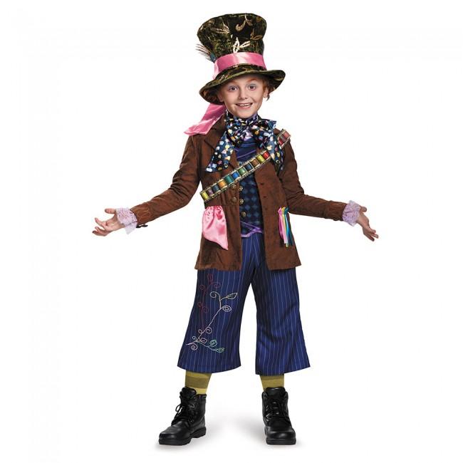 『アリス・イン・ワンダーランド』マッドハッターのコスチューム5点セット(子供用) ハロウィンコスチューム コスプレ (仮装、パーティー、舞台、演劇、ハロウィン)キッズ 男の子 子供用