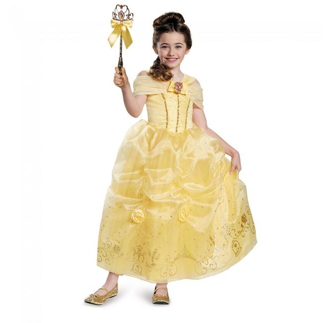 『美女と野獣』ベルのコスチューム(子供用) ハロウィンコスチューム コスプレ (仮装、パーティー、舞台、演劇、ハロウィン)キッズ 女の子 子供用
