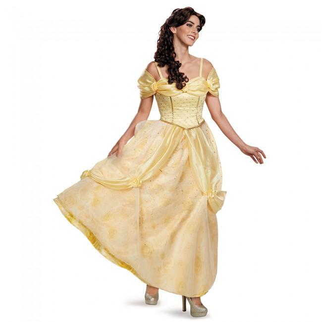 『美女と野獣』ベルのコスチューム(大人用) ハロウィンコスチューム コスプレ (二次会、結婚式、仮装、パーティー、宴会、舞台、演劇、ハロウィン)  女性 大人用