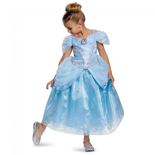 シンデレラのロングドレスコスチューム(子供用) ハロウィンコスチューム コスプレ (仮装、パーティー、舞台、演劇、ハロウィン)キッズ 女の子 子供用