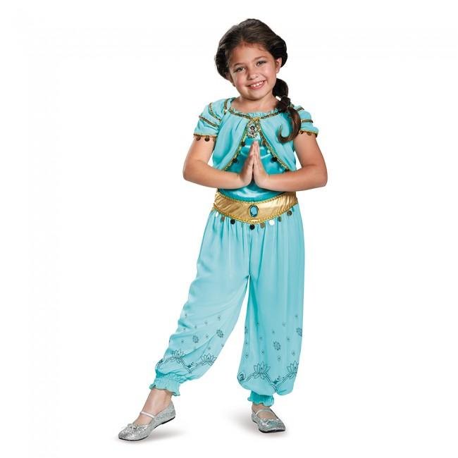 『アラジン』ジャスミンのコスチューム(子供用) ハロウィンコスチューム コスプレ (仮装、パーティー、舞台、演劇、ハロウィン)キッズ 女の子 子供用