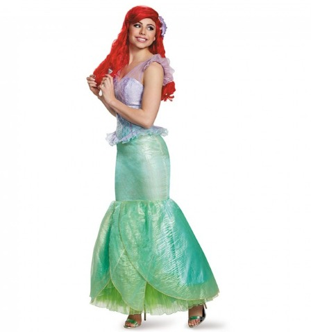 『リトル・マーメイド』アリエルのコスチューム(大人用) ハロウィンコスチューム コスプレ (二次会、結婚式、仮装、パーティー、宴会、舞台、演劇、ハロウィン)  女性 大人用