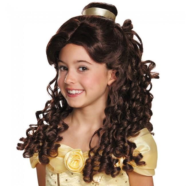 『美女と野獣』ベルのウィッグ(子供用) 小物アクセサリー ハロウィンコスチューム コスプレ (二次会、結婚式、仮装、パーティー、舞台、演劇、ハロウィン)  子供キッズ
