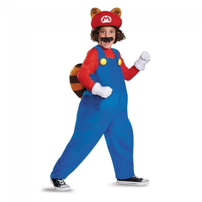 マリオ ラクーン デラックス スーパーマリオブラザーズ キッズ5点セット /キッズ用 コスプレ衣装 (結婚式、仮装、ハロウィン) 子供用 男の子