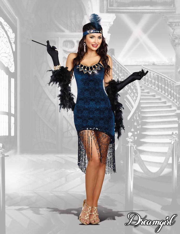 ダウンタウン ドール  大人女性  2点セット コスチューム コスプレ衣装 (二次会、結婚式、仮装、パーティー、宴会、ハロウィン)