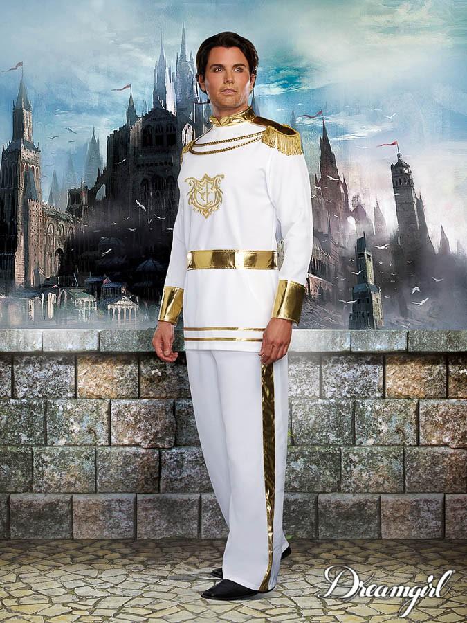 プリンス・チャーミング 大人男性  3点セット コスチューム コスプレ衣装 (二次会、結婚式、仮装、パーティー、宴会、ハロウィン)