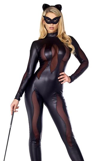 魅惑的なセクシー黒猫 コスチューム 3点セット  コスプレ衣装 (二次会、結婚式、仮装、パーティー、宴会、ハロウィン)大人女性用