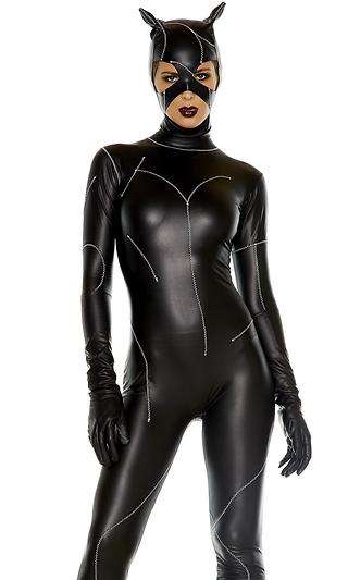 いたずらセクシー子猫ちゃん コスチューム 2点セット コスプレ衣装 (二次会、結婚式、仮装、パーティー、宴会、ハロウィン)大人女性用