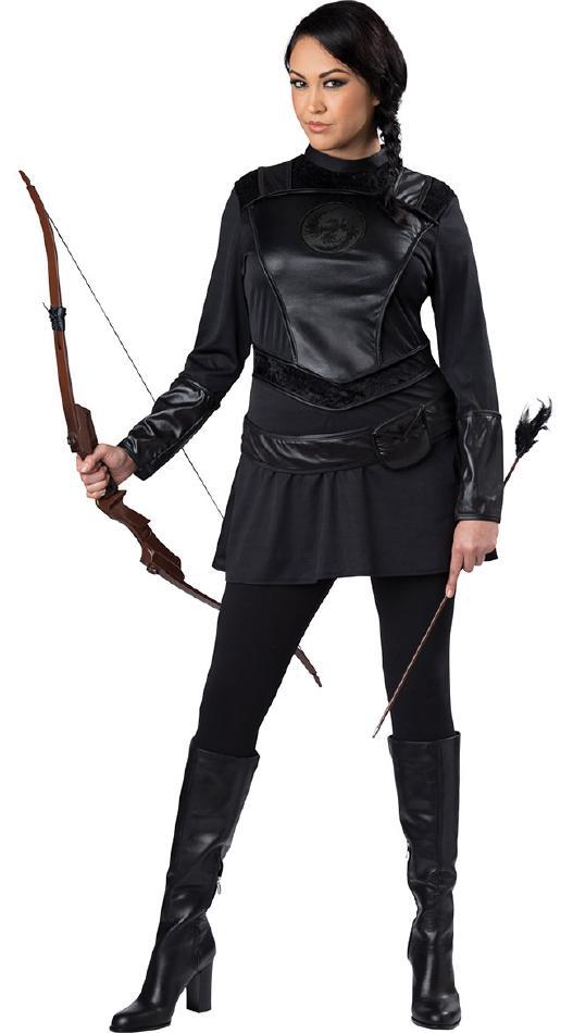 戦士ハンターのコスチューム2点セット【大きいサイズ】 コスプレ衣装 (二次会、結婚式、仮装、パーティー、宴会、舞台、演劇、ハロウィン) 女性 大人用