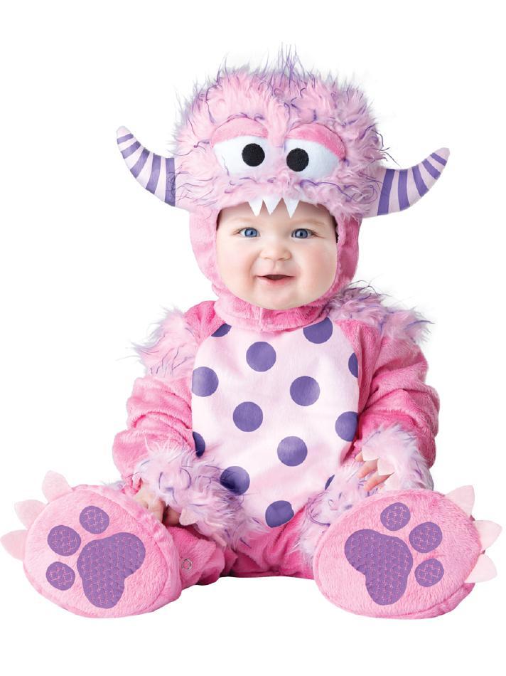 小さなピンクモンスターのコスチューム3点セット コスチューム コスプレ衣装 赤ちゃん 子供用 キッズ 6ヶ月 12ヶ月 18ヶ月 24ヶ月 (仮装、発表会、ハロウィン)
