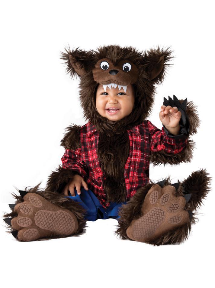 可愛い狼男のコスチューム4点セット コスチューム コスプレ衣装 赤ちゃん 子供用 キッズ 6ヶ月 12ヶ月 18ヶ月 24ヶ月 (仮装、発表会、ハロウィン)