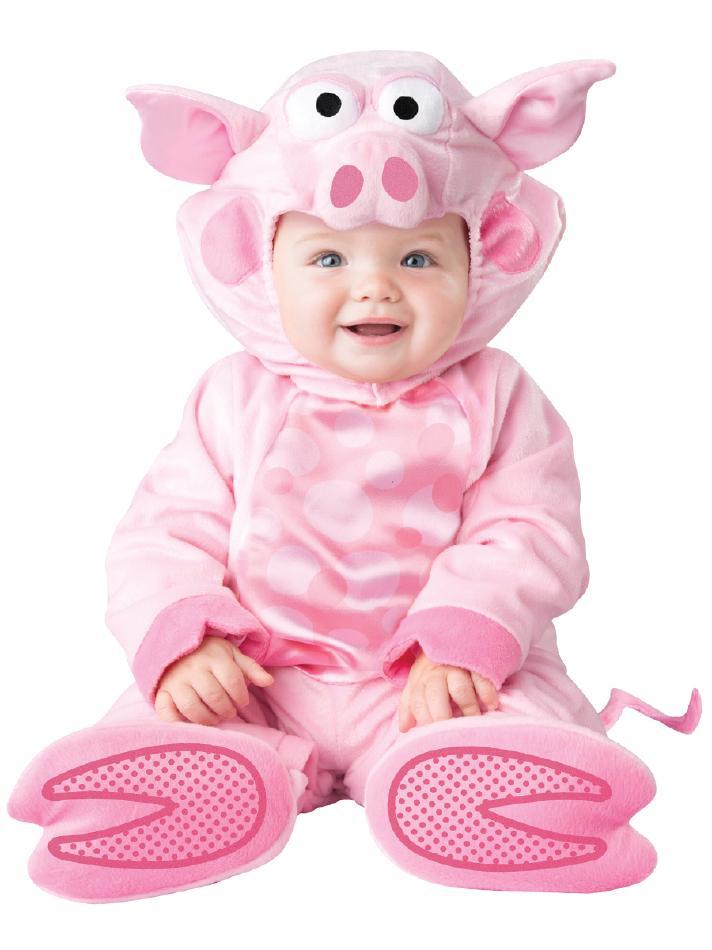 可愛い子ブタのコスチューム4点セット コスチューム コスプレ衣装 赤ちゃん 子供用 キッズ 6ヶ月 12ヶ月 18ヶ月 24ヶ月 (仮装、発表会、ハロウィン)