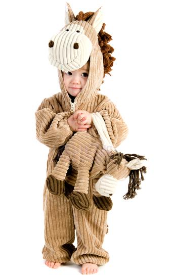 コーデュロイ ホースコスチューム インファントコスチューム コスプレ衣装 赤ちゃん 子供用 (仮装、発表会、ハロウィン)
