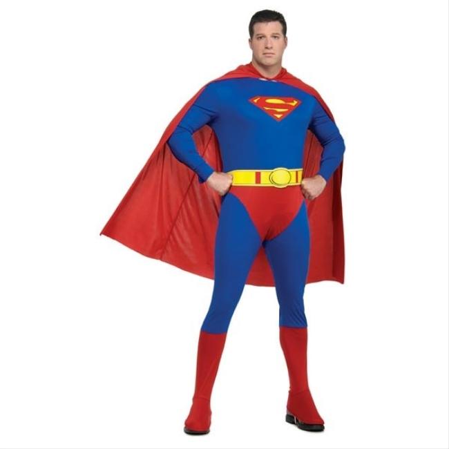 スーパーマンのコスチューム3点セット大人用【サイズ追加】 コスチューム コスプレ衣装 (二次会、結婚式、仮装、パーティー、宴会、舞台、演劇、ハロウィン、大きいサイズ)大人用 男性
