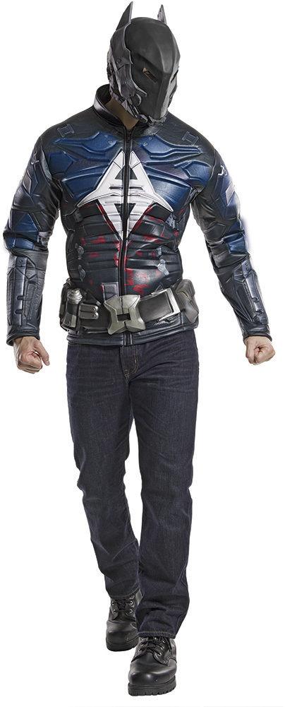 『バットマン/アーカム・ナイト』胸筋コスチューム大人用3点セット コスプレ衣装 (二次会、結婚式、仮装、パーティー、宴会、ハロウィン)大人男性用