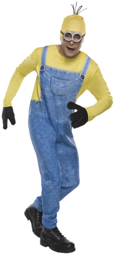 ミニオン・ケビンのコスチューム4点セット大人用 コスチューム コスプレ衣装 (二次会、結婚式、仮装、パーティー、宴会、舞台、演劇、ハロウィン、大きいサイズ)大人用 男性